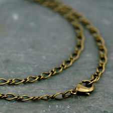 Fancy twist Link Chain Vintaged Antique Bronze Plated Necklace 4mm cn201b PICK