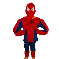 Spiderman Muscle Hero Kid Boy Fancy Party Costume Age 2-7 Years FC005B