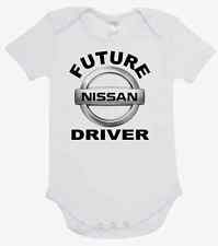 BABY ONE PIECE, ROMPER. ONESIE. printed with FUTURE NISSAN DRIVER quality onesie