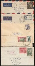 FIJI QEII COMMERCIAL COVERS (x5) (x1 REGISTERED LOCAL RATE COVER) (ID:149/D21615