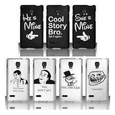 FUNNY PHRASES HARD PLASTIC PHONE CASE COVER FOR LG OPTIMUS L9 P769 (T-MOBILE)
