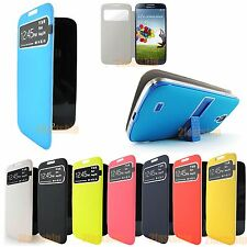 FLIP PU Leather CASE Stand Cover Smart WakeView For SAMSUNG GALAXY S4 S IV i9500
