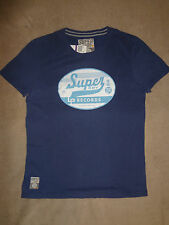SUPERDRY Blue Indigo LP RECORDS Mens XXXL, XXL, XL, L, M, S, T-Shirt