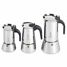 Bialetti Venus - 2, 4, 6 or 10 Cup Stainless Steel Espresso Coffee Maker