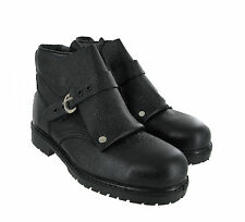 Mens Forma Black Patent Leather Ankle Foundry Buckle Steel Toe Safety Boot UK7&8