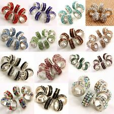 Wholesale Crystal Rhinestone Double Row Loose Beads Fit European Charms Bracelet