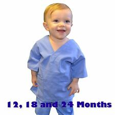 Toddler Scrubs Set REAL Ceil Blue Childrens Doctor and Nurse Kids Scrub Sets