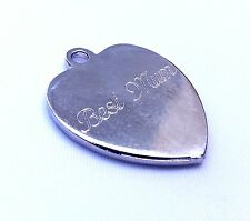Personalised Engraved Heart Charm Tag / Any Message - Engraved Gift