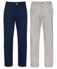 2683 Boys Pure Cotton Adjustable Waist Chinos RRP £ 6-7 Navy And Beige