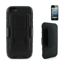 For Apple iPhone 5C Light Rugged Hard Case Cover w/ Belt Clip Holster Kickstand