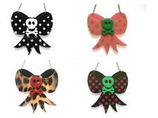 ROCKABILLY BOW SKULL POLKA DOT NECKLACE LEOPARD PINUP GIRL RETRO KITSCH PUNK NEW
