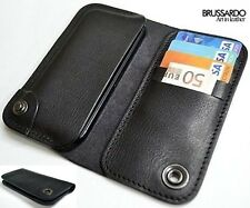 """Brussardo """"Elegante Collection"""" Italian Leather Case Wallet For Apple iPhone 5"""