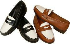 Traditions by Steve Calvert The Shag Classic Penny Loafer w/ White Retail  $145