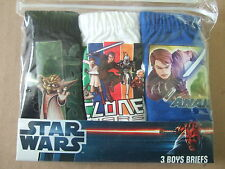 Boys Star Wars 3 Pack Briefs Undies Pants - Ages 3/4, 5/6, 7/8 and 9/10 -style 1
