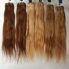 16-20inches Straight Brazilian Virgin REMY 100% Human Hair Weft/Extensions 100g