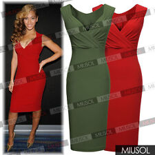 Ladies Sexy Lovely Celeb Women Deep V Nec Tunic k Bodycon Evening Party Dresses