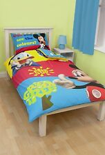 Mickey Mouse Kids/Childrens Bedroom Bedding & Accessories, Polycotton Single