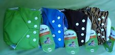 New FuzziBunz Elite One Size Pocket Cloth Diaper and Inserts Multiple Colors NWT