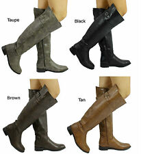 New Women's Breckelle's Rider-82 Buckle Knee high Riding Boots Size 6-11