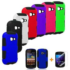 MESH HYBRID CASE COVER FOR SAMSUNG GALAXY DISCOVER CENTURA S738C +FREE LCD GUARD