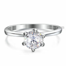 1 Carat Lab Created Diamond Engagement Sterling 925 Silver Ring FR8027