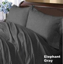ALL BEDDING ITEMS(FITTED,FLAT,PILLOW CASE)1000TC EGYPTIAN COTTON-ELEPHANT GRAY