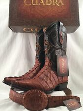 mens CUADRA AUTHENTIC cocodrile western COWBOY BOOTS W/MATCHING BELT *ALL SIZES*