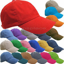 Men's Hat Adjustable side buckle KBLOW Baseball Cap Washed Cotton One Size Solid