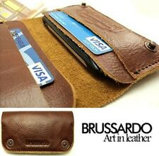 """Brussardo """"Grande Collection"""" Italian Leather Case Wallet For Apple iPhone 4/4S"""