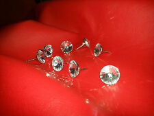 Diamond Crystal Clear Upholstery SWAROVSKI Element Headboard Buttons with nail