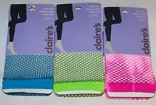 Footless Fishnet Tights - Blue Green / Black Pink Tie-Dye S  /M or M / L - NWT