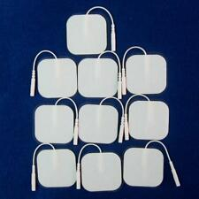 10 Pcs Square Tens Machine Ems Replacement Electrode Pads Self-Adhesive 4x4cm
