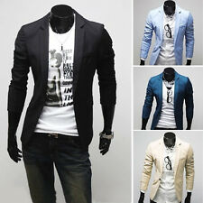 Mens Casual TOP Design Sexy Slim FIT Blazers Coats Suit Jackets one button 3Size