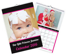 A4 PERSONALISED PHOTO CALENDARS - IDEAL FOR CHRISTMAS PRESENTS-CUSTOM DATES