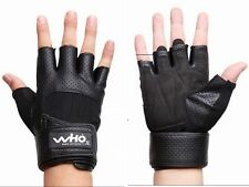 Men women Fitness Training Gym exercise Bike bicycle Gloves W Wrist Supporter