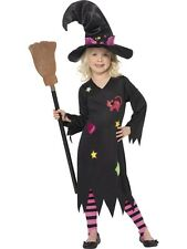 Childrens Halloween Fancy Dress Girls Cinder Witch Costume T2, S & M 1st Class