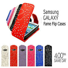 DIAMOND LEATHER FLIP CASE COVER & SCREEN PROTECTOR FOR SAMSUNG GALAXY S2 i9100