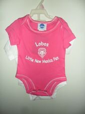 New Mexico Lobos Newborn Infant Baby Creeper 2 Pack Romper Pink White 0-18 Mo
