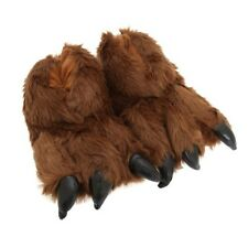 (Free PnP) Mens Animal Bigfoot Clawed Yeti Monster Fluffy Slippers 2 Colours