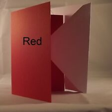 Xmas Red 5x7 Quality 240gsm Card Blanks select pack size 1st class FREE Postage