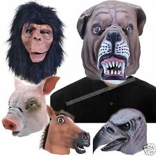 Adult Rubber Dog Farm Bird Animal Head Mask Fancy Dress Costume Mask Panto Prop