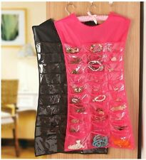 Wall Door Closet Dress Hanging Jewelry Organizer Storage Pouch 30 Pocket 10 hook