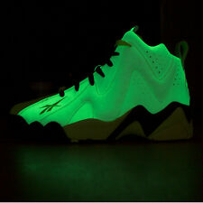 New! Mens REEBOK KAMIKAZE II 2 Mid ACID RAIN Shawn Kemp Yellow White GLOW Shoes