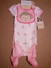 * NWT - CARTER'S - BABY GIRL'S 3-PIECE FOOTED GIFT SET
