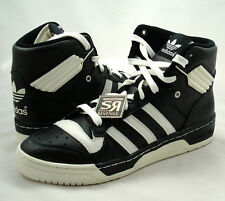 New 11 adidas Originals RIVALRY HI Shoes Black Chalk White forum High conductor