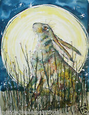 LARGE PRINTS from ORIGINAL WATERCOLOUR by MOON HARES ART Paintings & Prints