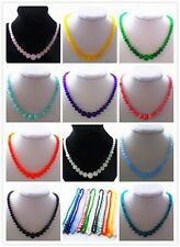 Mixed Color Jade Round Necklace 17.5 inch 1pcs or 11pcs Mayan-202