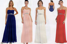 13 COLORS COCKTAIL BRIDESMAIDS HOMECOMING LONG PROM FORMAL DRESS BALL GOWN 4-26