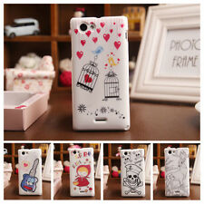 CARTOON TPU Silicone Protection Case Skin Cover Back For Sony Xperia J St26i NEW