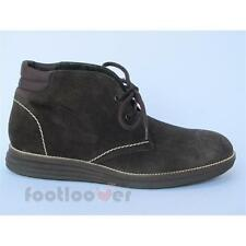 Men's Kebo 11231M comfortable dark brown suede casual shoes Made in Italy